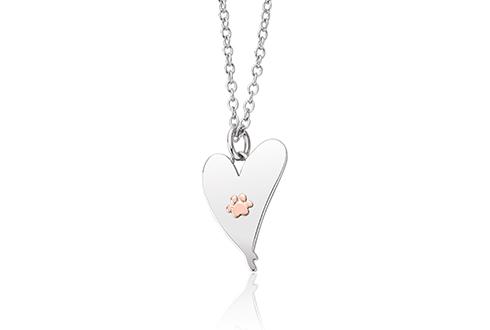 Clogau Silver A Dog Lovers Dream Heart Pendant